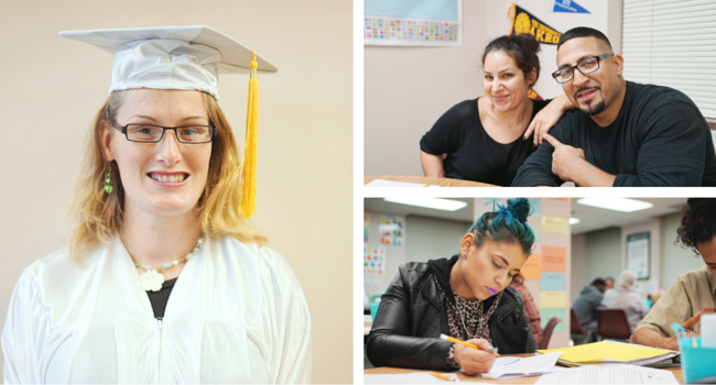 We provide free GED prep classes and tutoring.