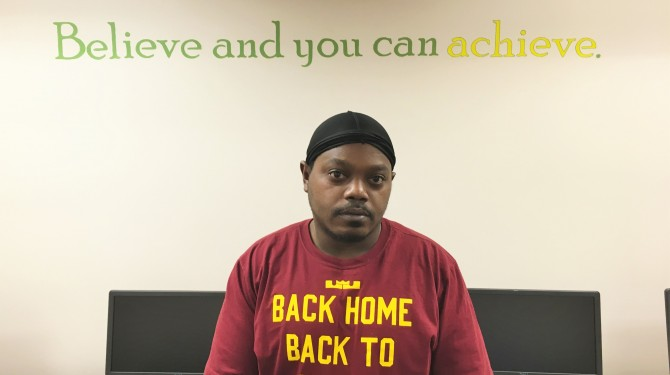 Johnny Shackelford attends GED classes at Seeds of Literacy Kinsman site on Cleveland's east side.