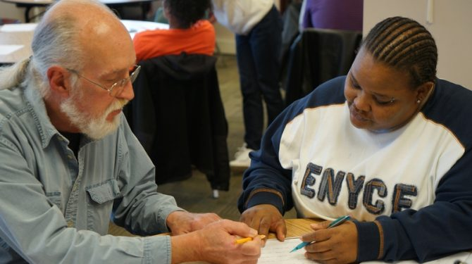 Seeds of Literacy - GED student works with a free tutor